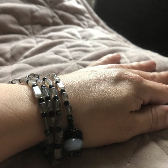 Labradorite necklace or wrap bracelet